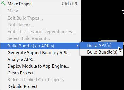 android studio generate signed apk location