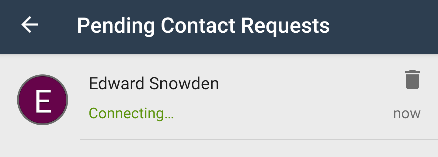 Pending Contacts