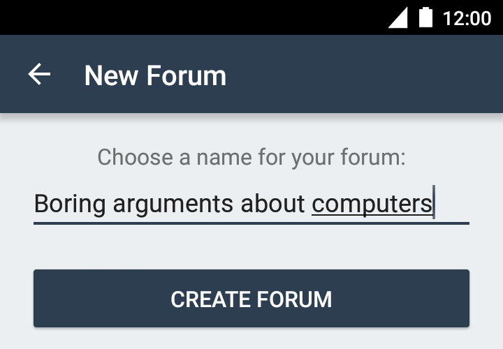 Creating a forum