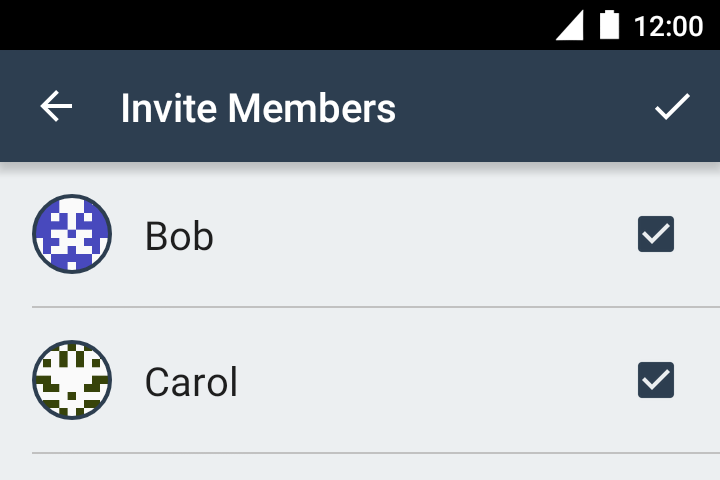 Creating a private group, step 2