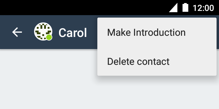 Deleting a contact