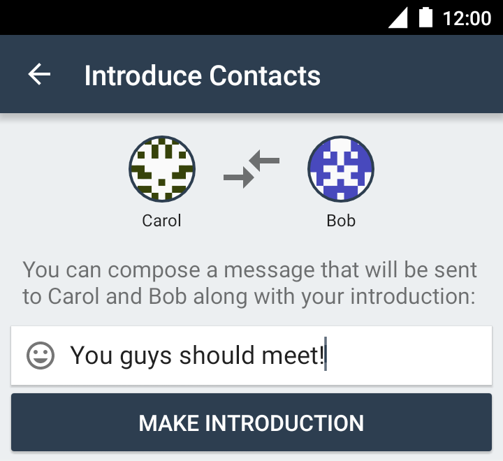 Adding a message to both contacts